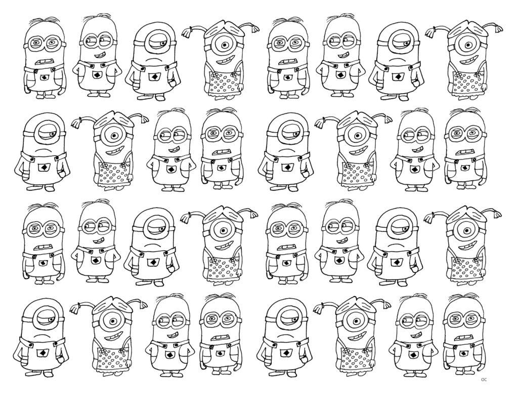 coloriage a imprimer de minion Lovely Minions 116 s d animation ? Coloriages  imprimer